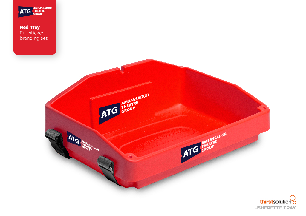red usherette tray by Usherette Trays