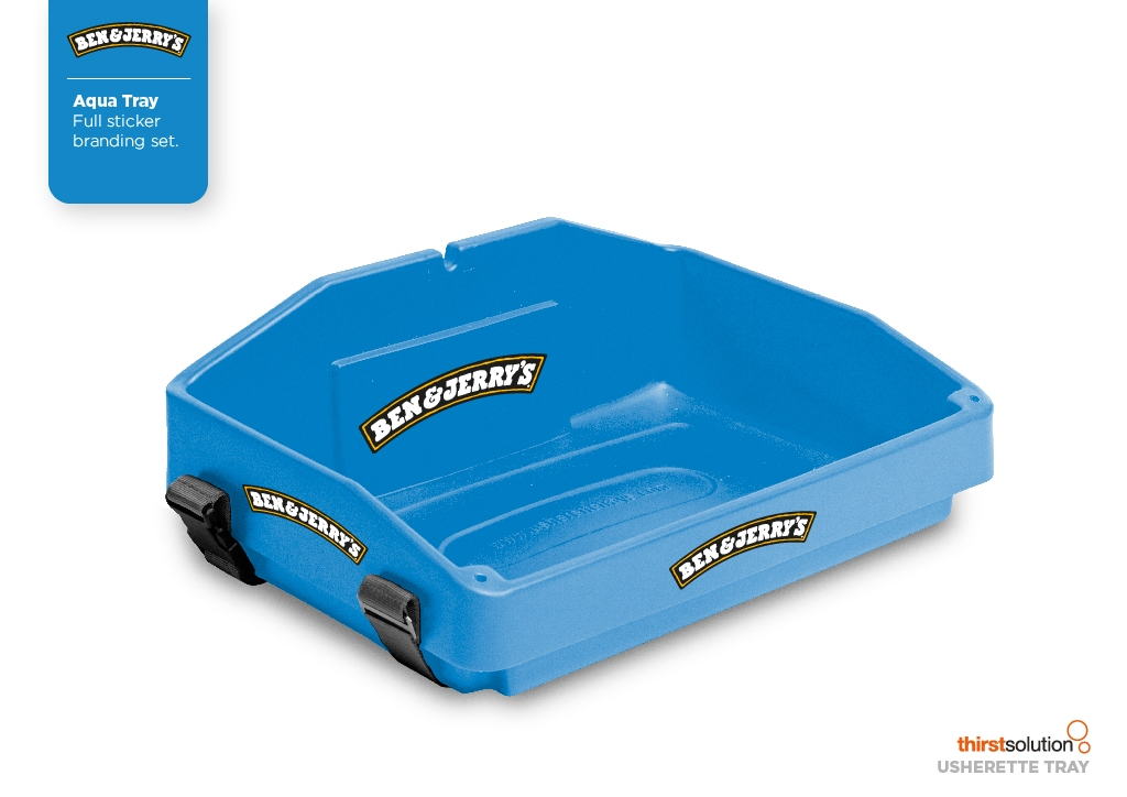 mid blue usherette tray by Usherette Trays