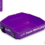 purple usherette tray with branding for Cadbury by Usherette Trays