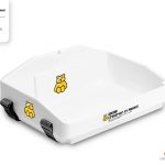 pure white usherette tray with branding by Usherette Trays