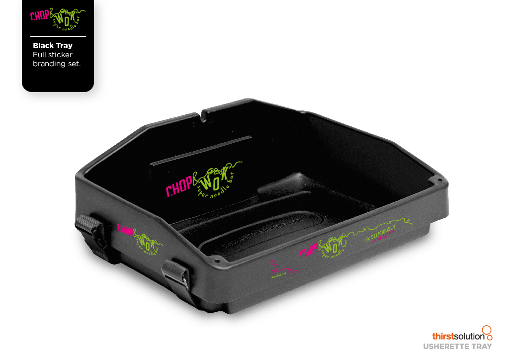 black usherette tray with strap by Usherette Trays