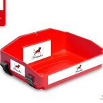 bright red usherette tray by usherette trays