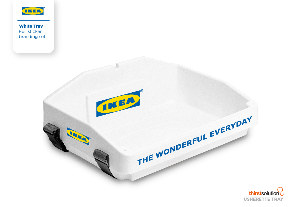 white usherette tray for ikea by Usherette Trays