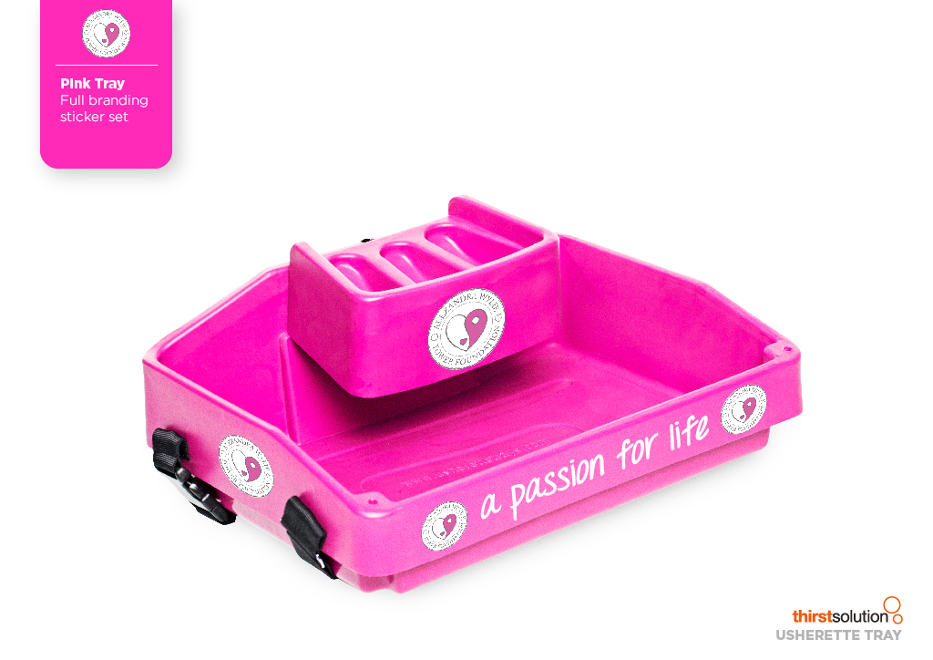 bright pink usherette tray by Usherette Trays