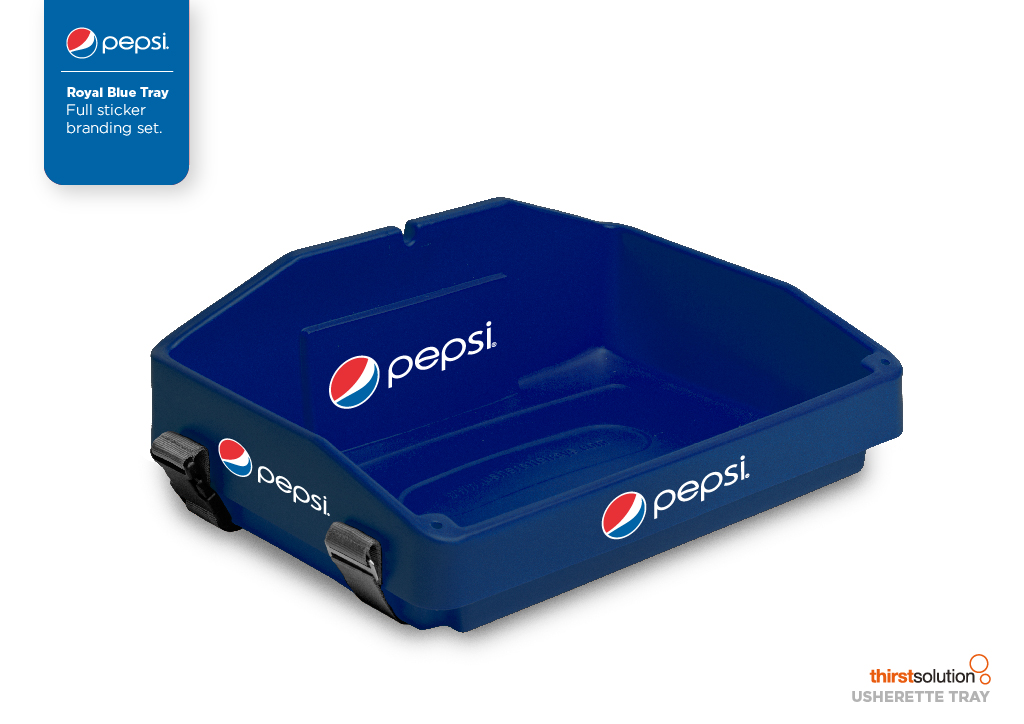 royal blue usherette tray by Usherette Trays