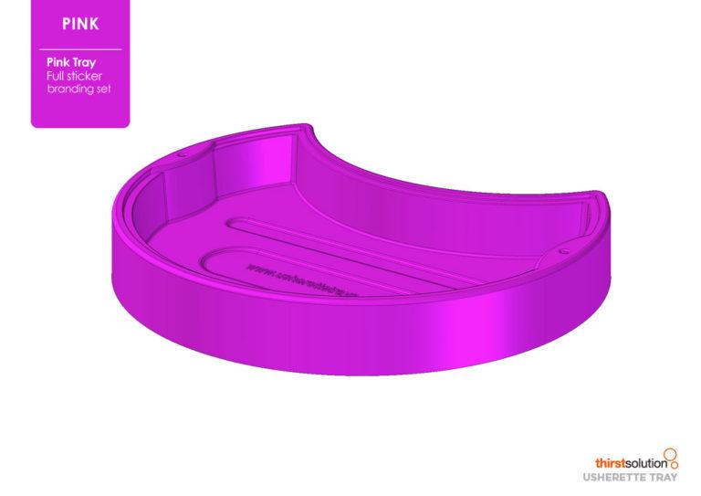usherette tray pink