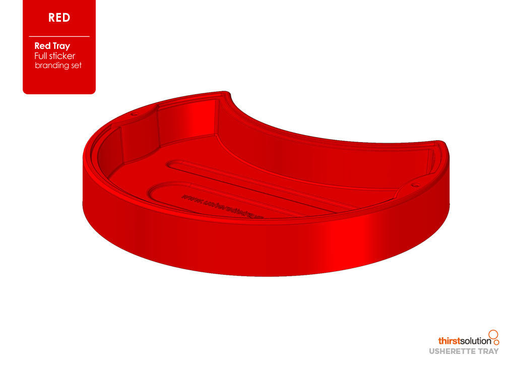 usherette tray red