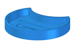usherette tray blue plastic