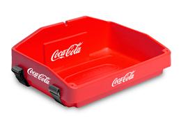 usherette tray red plastic