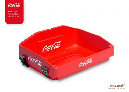 usherette tray red branded